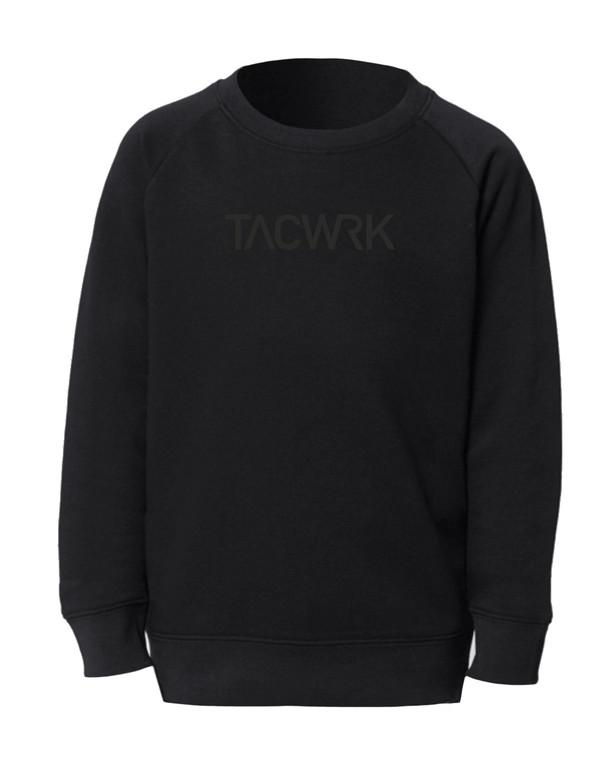 TACWRK Kids Sweatshirt Black on Black