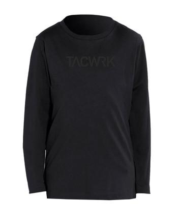 TACWRK - Kids Longsleeve Black on Black