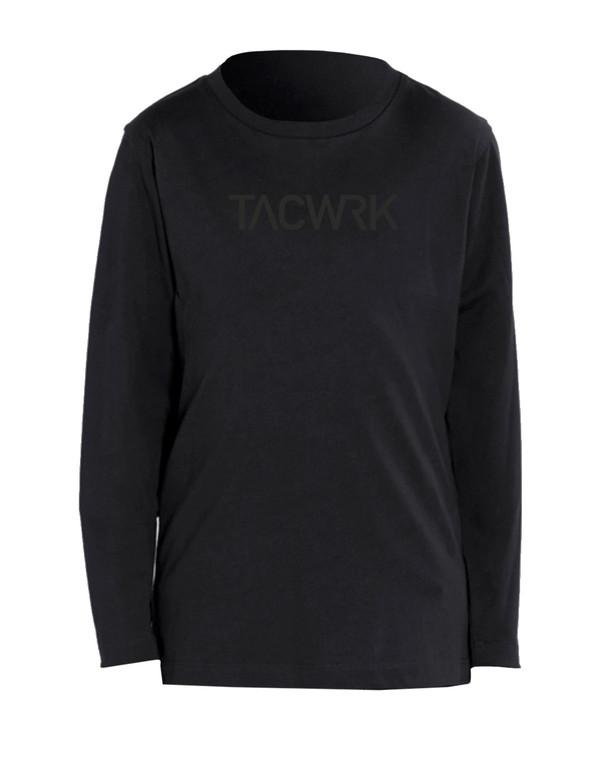 TACWRK Kids Longsleeve Black on Black