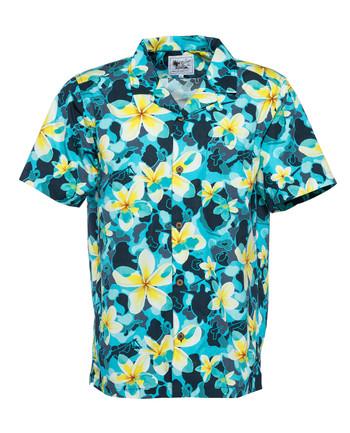 OTTE Gear - Aloha Pua Honu Shirt Blue Atoll