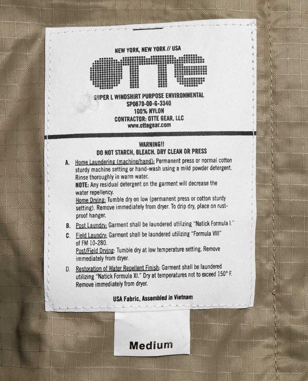 OTTE Gear Super L Windshirt Tan
